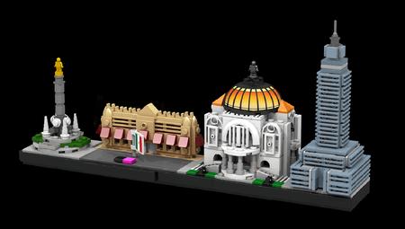 Los monumentos de la Ciudad de México podrían tener su propio set de LEGO, así se verían