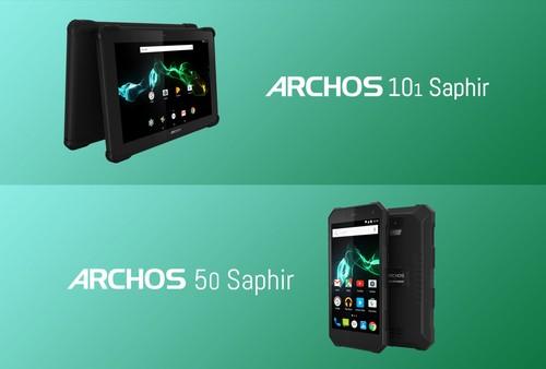 ARCHOS presenta su gama de dispositivos resistentes: la tableta 101 Saphir y el smartphone 50 Saphir