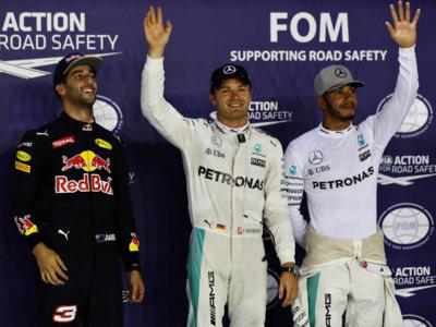 Nico Rosberg se lleva la pole en lucha más ajustada de la temporada