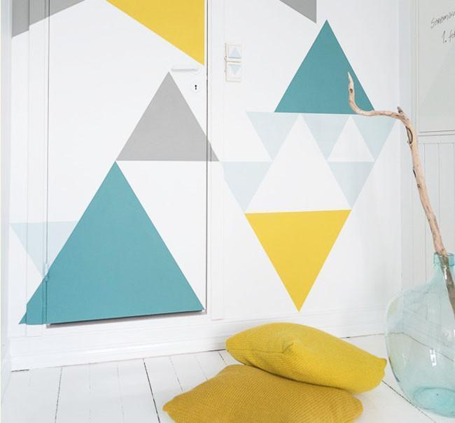 Geometriza tus paredes, una nueva manera de decorar tu hogar