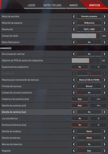 La Mejor Configuracion De Apex Para Pc