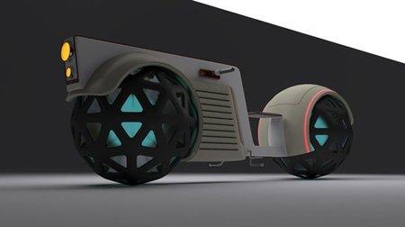 Pandur 2L: una moto con esferas en vez de ruedas
