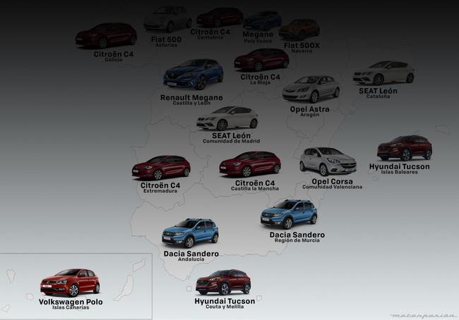 Los andaluces son de Sandero, los letones de Qashqai. ¿Qué coches preferimos españoles y europeos?