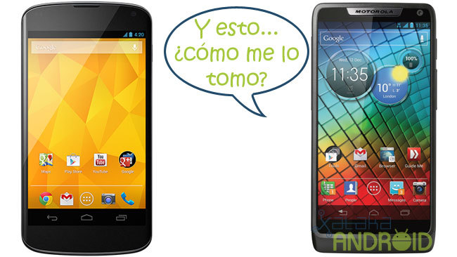 Motorola ante la nueva gama Nexus