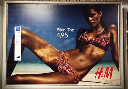Daniel Soares pega barras de herramientas de Photoshop en carteles de H&M