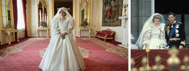 Ya tenemos el vestido de novia de Lady Di en 'The Crown' y está perfectamente conseguido (aunque no es una réplica exacta)