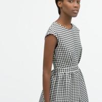 Vestido Cuadros Vichy Zara