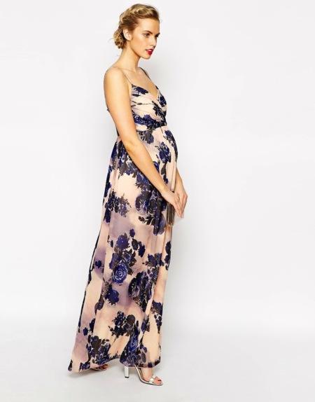 Vestido Flores Premama Maxi