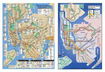 Nuevo mapa del metro Nueva York más simple y atractivo
