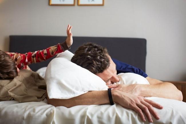 Fitbit Flex en la cama