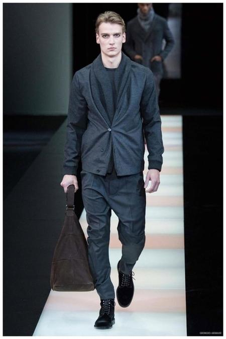 Giorgio Armani Menswear Fall Winter 2015 Collection Milan Fashion Week 012