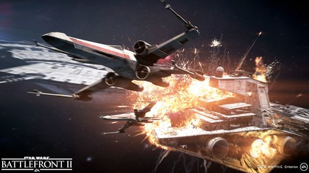 Star Wars Battlefront II: todas las naves confirmadas de su modo Asalto de Cazas Estelares y media hora de gameplay en PS4 Pro