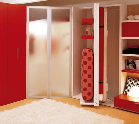 Ahorrando espacio en dormitorios juveniles - Dormitorios juveniles para poco espacio ...