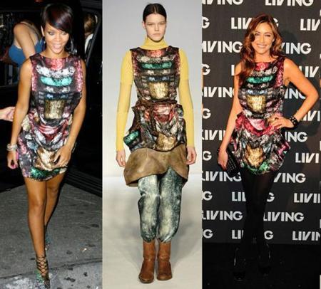 Rihanna y Lisa Snowdon o cómo hacer de un look imposible un vestido refinado
