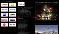 flickriver lenses explorer, cientos de fotos de un objetivo a un click
