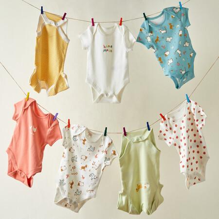 Newborn Baby Farm Animal Print Shortsleeve Bodysuit 7 Pack Gbp7 Eur10 13 Pln47