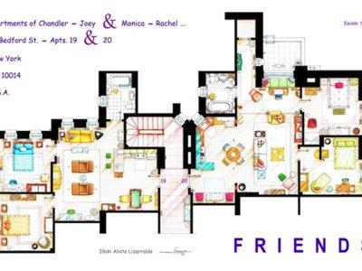 Planos de apartamentos de series icónicas de la televisión. ¿Con cuál te quedas?