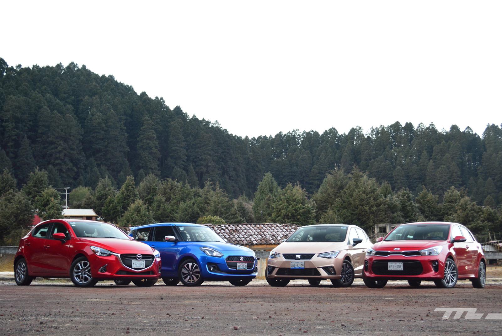 Foto de SEAT Ibiza vs. Suzuki Swift vs. KIA Rio vs. Mazda2 (comparativa) (2/20)