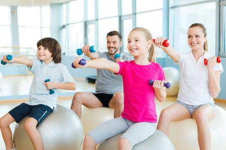 practicar deporte en familia