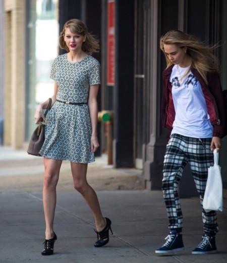 Niña buena, niña mala. ¿Cara Delevingne o Taylor Swift?