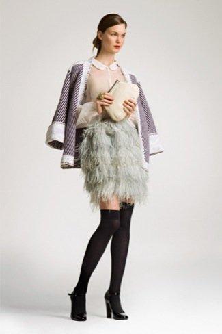 Lookbook Uterque Navidad 2010: falda flecos