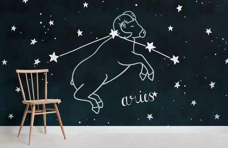 Papel Pintado Constelaciones Del Zodiaco Aries Chair Weblandscape