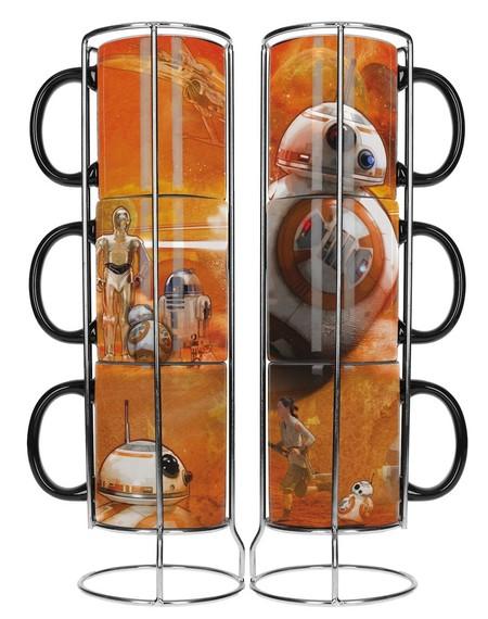 ¿Fan de Star Wars? Este set de 3 tazas apilables del droide BB8 ahora cuestan 9,99 euros