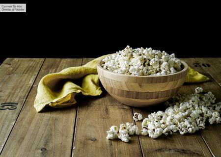 Palomitas de maíz en el microondas