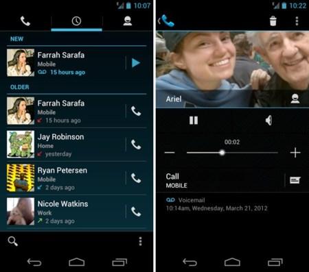 Google Voice se actualiza con buzón de voz visual y acceso directo desde el propio teléfono