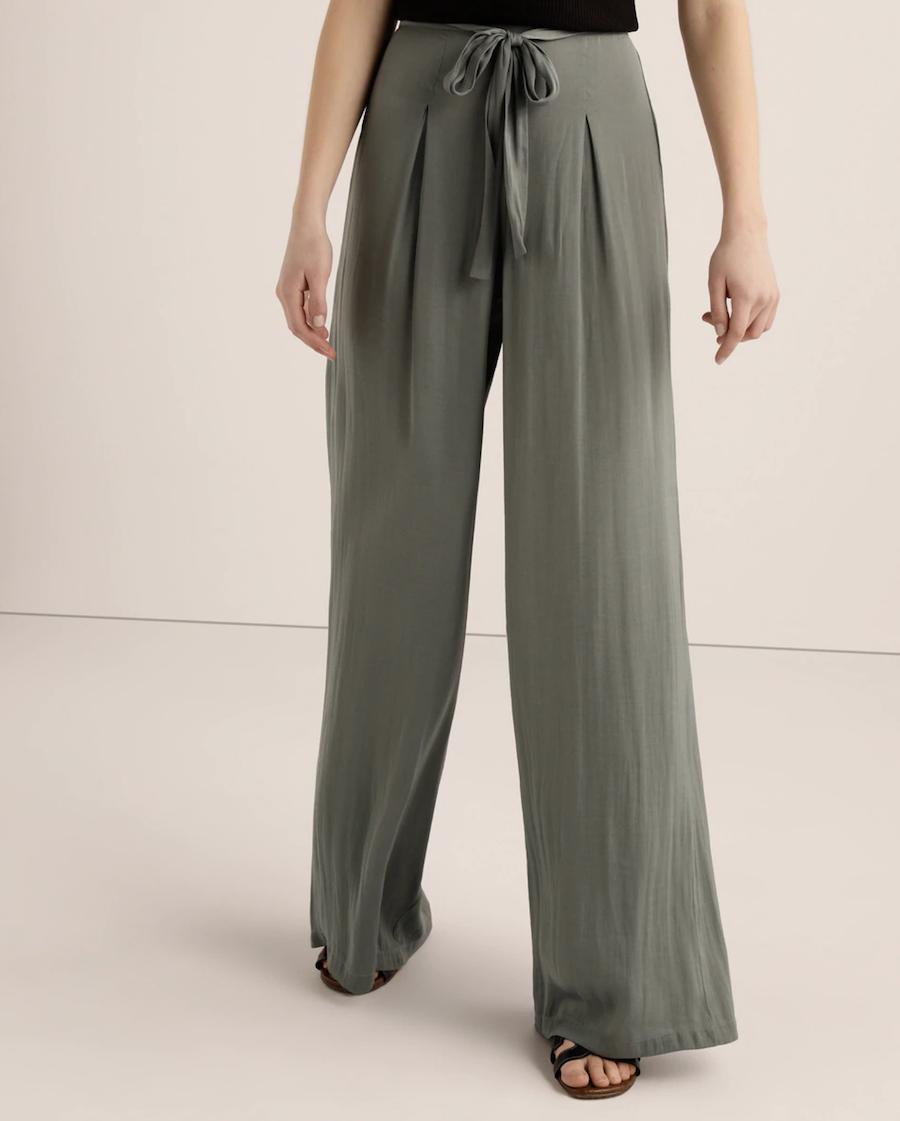 Pantalón de mujer ancho color liso
