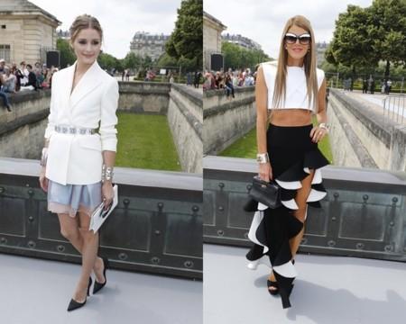 Olivia Palermo y Anna dello Russo en la semana de la moda de Paris