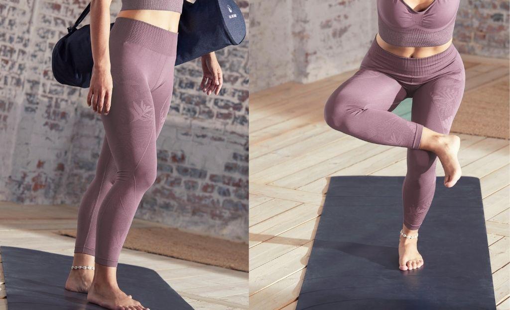 Mallas seamless de tiro alto para yoga