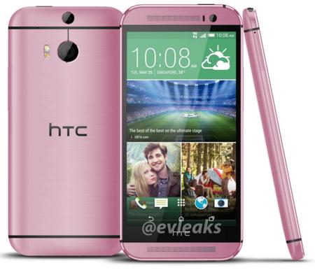El nuevo HTC One (M8) también se vestirá de rosa, según Evleaks
