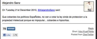 Alejandro Sanz tira la piedra por Twitter y luego te pregunta por las navidades