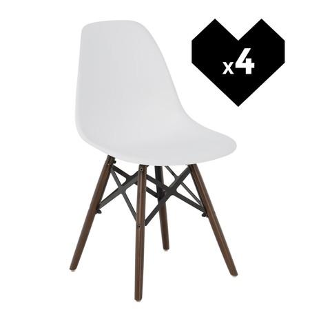 En eBay tenemos el pack de 4 sillas de diseño nórdico Ims X por 45,95 euros con envío gratis: menos de 12 euros la unidad
