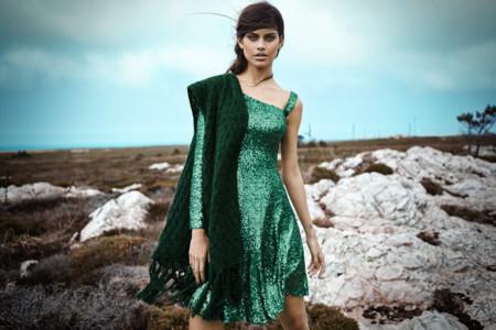 Vestido verde botella invierno