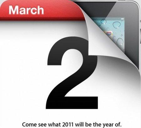 iPad 2 confirmado. Fecha de presentación oficial
