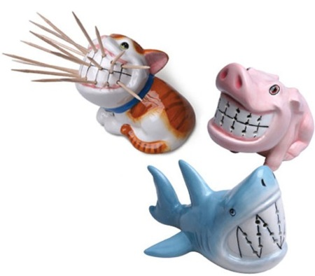 Sonrientes animales sujeta-palillos