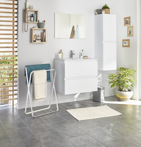 Un baño elegante, actual y perfectamente ordenado