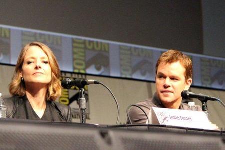 Jodie Foster y Matt Damon en la Comic Con 2012
