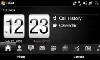 HTC TouchFlo3D en el XPERIA X1