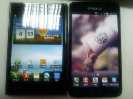 LG Optimus Vu se deja retratar junto al Samsung Galaxy Note