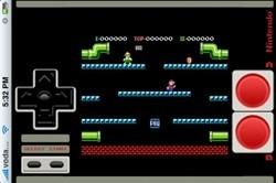 """Una plantilla de vinilo para """"notar"""" los controles del emulador de NES en el iPhone"""