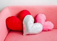Hazlo tú mismo: cojines con forma de corazón para San Valentín