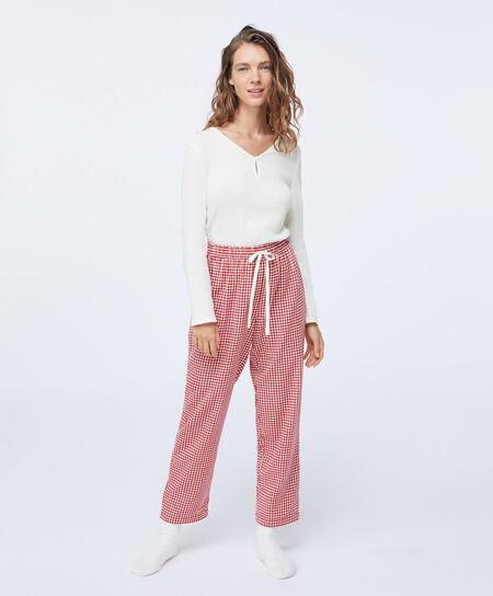 Pijama Cuadro Vichy Navidad Oysho 00002
