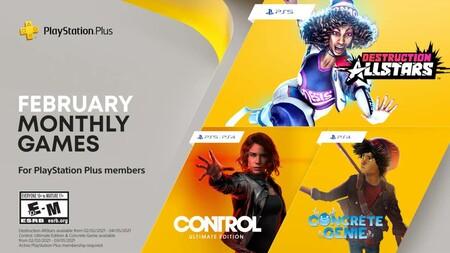 Control y Destruction AllStars entre los juegos de PlayStation Plus de febrero de 2021