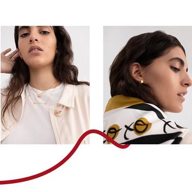 De toda la colección de San Valentín de Parfois este collar, estos pendientes y este pañuelo son nuestros tres favoritos