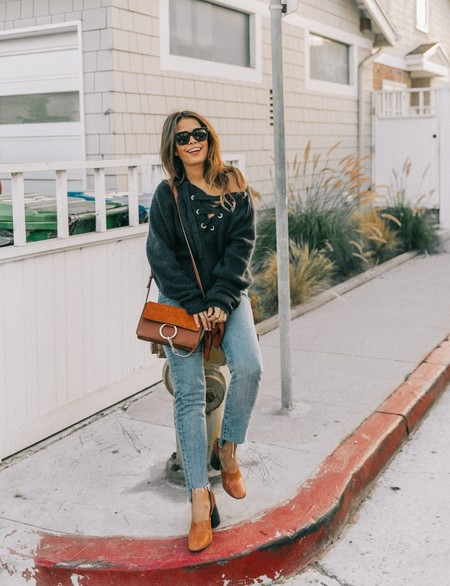 Venice Beach Knotted Jumper Levis Jeans Chloe Bag Mango Shoes Horn Necklaces Outfit Street Style Los Angeles Collage Vintage 147 1600x2400