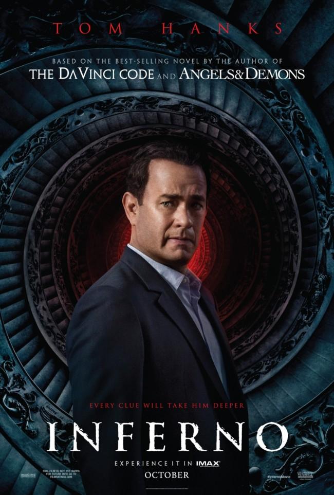 Tom Hanks en un póster alternativo de Inferno