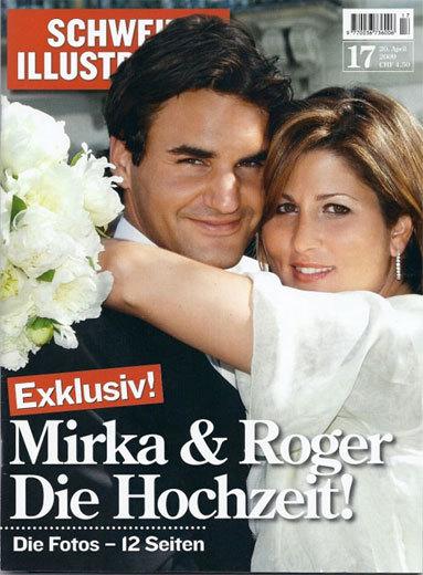 Roger Federer vendió la exclusiva de su boda
